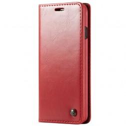 """""""CaseMe"""" solidus atverčiamas dėklas - raudonas (Galaxy S10+)"""