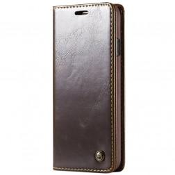 """""""CaseMe"""" solidus atverčiamas dėklas - rudas (Galaxy S10+)"""