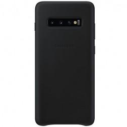 """""""Samsung"""" Leather Cover dėklas - juodas (Galaxy S10+)"""