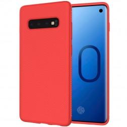 """""""Lenuo"""" kieto silikono (TPU) dėklas - raudonas (Galaxy S10+)"""