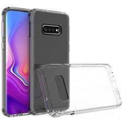 Kieto silikono (TPU) dėklas - skaidrus (Galaxy S10+)
