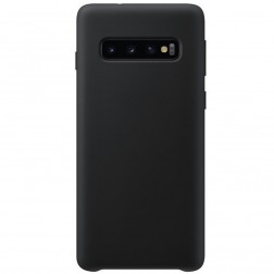 """""""Shell"""" kieto silikono (TPU) dėklas - juodas (Galaxy S10)"""