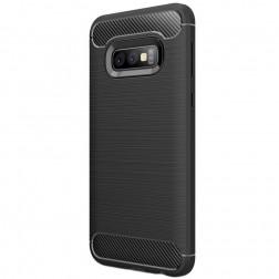 """""""Carbon"""" kieto silikono (TPU) dėklas - juodas (Galaxy S10e)"""