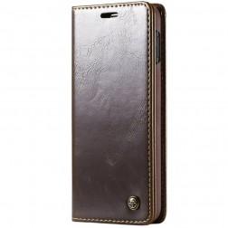 """""""CaseMe"""" solidus atverčiamas dėklas - rudas (Galaxy S10e)"""