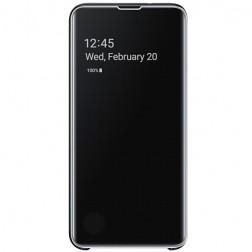"""""""Samsung"""" Clear View Standing Cover atverčiamas dėklas - juodas (Galaxy S10e)"""