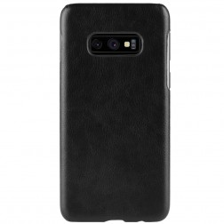 """Litchi"" Skin Leather dėklas - juodas (Galaxy S10e)"