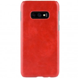 """Litchi"" Skin Leather dėklas - raudonas (Galaxy S10e)"