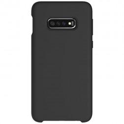 """""""Shell"""" kieto silikono (TPU) dėklas - juodas (Galaxy S10e)"""