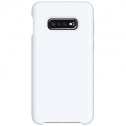 """Shell"" kieto silikono (TPU) dėklas - baltas (Galaxy S10e)"