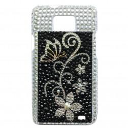 """""""Diamonds"""" dėklas - sidabrinis (Galaxy S2)"""