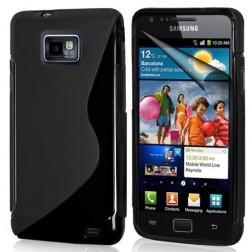 Silikoninis dėklas - juodas (Galaxy S2)