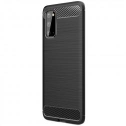"""""""Carbon"""" kieto silikono (TPU) dėklas - juodas (Galaxy S20)"""