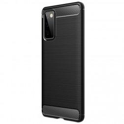 """""""Carbon"""" kieto silikono (TPU) dėklas - juodas (Galaxy S20 FE)"""