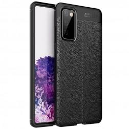 """""""FOCUS"""" kieto silikono (TPU) dėklas - juodas (Galaxy S20 FE)"""