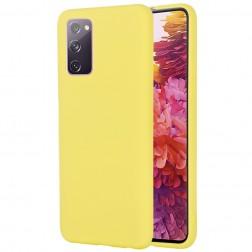 """""""Shell"""" kieto silikono (TPU) dėklas - geltonas (Galaxy S20 FE)"""