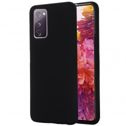 """""""Shell"""" kieto silikono (TPU) dėklas - juodas (Galaxy S20 FE)"""