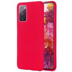 """""""Shell"""" kieto silikono (TPU) dėklas - raudonas (Galaxy S20 FE)"""