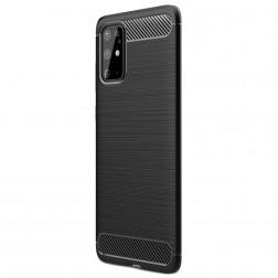 """""""Carbon"""" kieto silikono (TPU) dėklas - juodas (Galaxy S20+)"""