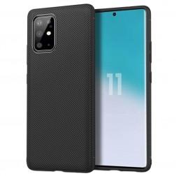 """""""Jazz"""" kieto silikono (TPU) dėklas - juodas (Galaxy S20+)"""