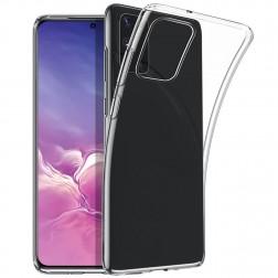 Kieto silikono (TPU) dėklas - skaidrus (Galaxy S20+)
