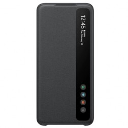 """""""Samsung"""" Smart Clear View Cover atverčiamas dėklas - juodas (Galaxy S20)"""