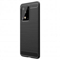 """""""Carbon"""" kieto silikono (TPU) dėklas - juodas (Galaxy S20 Ultra)"""