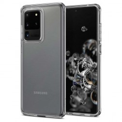 Kieto silikono (TPU) dėklas - skaidrus (Galaxy S20 Ultra)