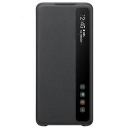 """""""Samsung"""" Smart Clear View Cover atverčiamas dėklas - juodas (Galaxy S20+)"""