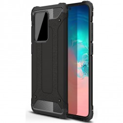 Sustiprintos apsaugos dėklas - juodas (Galaxy S20 Ultra)