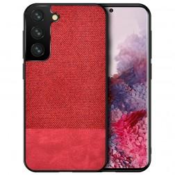 """""""Bi-Color"""" Splicing dėklas - raudonas (Galaxy S21)"""