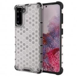 """""""Honeycomb"""" sustiprintos apsaugos dėklas - skaidrus (Galaxy S21)"""