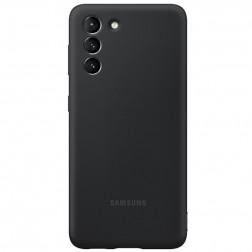 """""""Samsung"""" Silicone Cover dėklas - juodas (Galaxy S21)"""