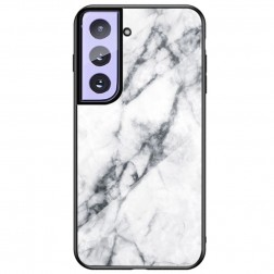 """""""Marble"""" kieto silikono (TPU) dėklas - baltas (Galaxy S21)"""