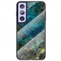 """""""Marble"""" kieto silikono (TPU) dėklas - mėlynas (Galaxy S21)"""