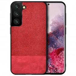 """""""Bi-Color"""" Splicing dėklas - raudonas (Galaxy S21+)"""
