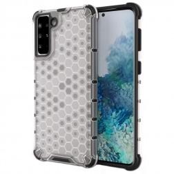 """""""Honeycomb"""" sustiprintos apsaugos dėklas - skaidrus (Galaxy S21+)"""