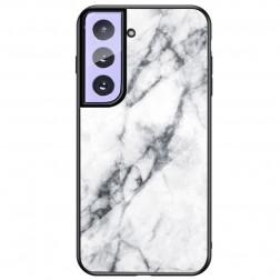 """""""Marble"""" kieto silikono (TPU) dėklas - baltas (Galaxy S21+)"""