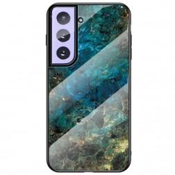 """""""Marble"""" kieto silikono (TPU) dėklas - mėlynas (Galaxy S21+)"""