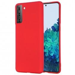 """""""Shell"""" kieto silikono (TPU) dėklas - raudonas (Galaxy S21+)"""