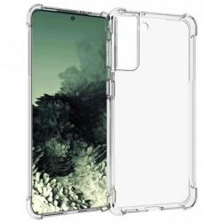 Kieto silikono (TPU) dėklas - skaidrus (Galaxy S21+)