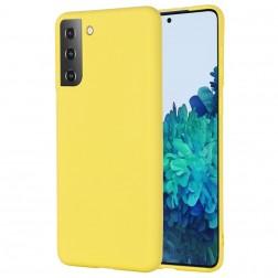 """""""Shell"""" kieto silikono (TPU) dėklas - geltonas (Galaxy S21)"""