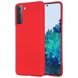 """""""Shell"""" kieto silikono (TPU) dėklas - raudonas (Galaxy S21)"""