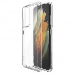 Kieto silikono (TPU) dėklas - skaidrus (Galaxy S21)