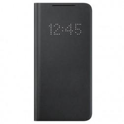 """""""Samsung"""" Smart Led View Cover atverčiamas dėklas - juodas (Galaxy S21)"""