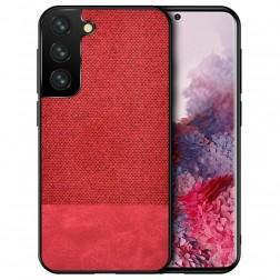 """""""Bi-Color"""" Splicing dėklas - raudonas (Galaxy S21 Ultra)"""
