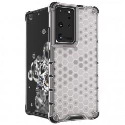"""""""Honeycomb"""" sustiprintos apsaugos dėklas - skaidrus (Galaxy S21 Ultra)"""