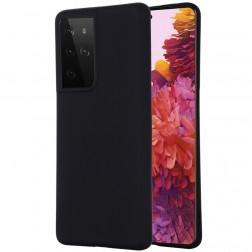 """""""Shell"""" kieto silikono (TPU) dėklas - juodas (Galaxy S21 Ultra)"""