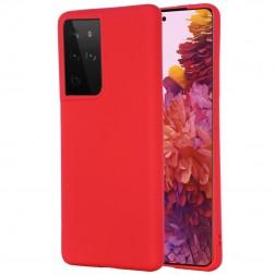 """""""Shell"""" kieto silikono (TPU) dėklas - raudonas (Galaxy S21 Ultra)"""