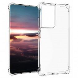 Kieto silikono (TPU) dėklas - skaidrus (Galaxy S21 Ultra)
