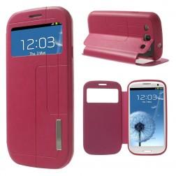 """Atverčiamas """"View Window"""" dėklas - rožinis (Galaxy S3)"""